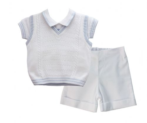 Pretty Originals Boys Knitted Top & Shorts Set